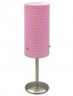 Lampa stojąca, różowa